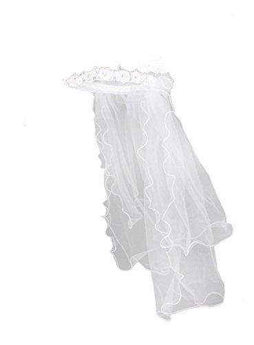 Couronne de communion avec voile blanc (8-16 ans)