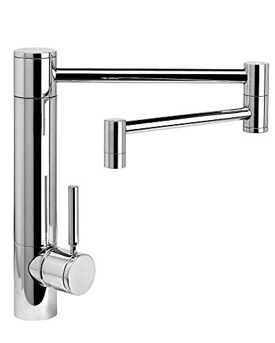 Fantastic Deal! Waterstone 3600-18-SS Hunley Kitchen Faucet - 18 Articulated Spout Stainless Steel