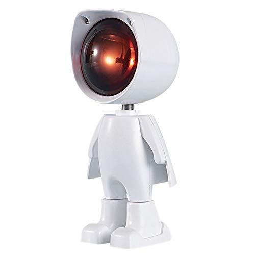 Figura robótica puesta de sol, proyector LED, luz ambiental, carga por USB, luz nocturna romántica para casa, salón, dormitorio, proyector de figuras robot, proyector de luz LED