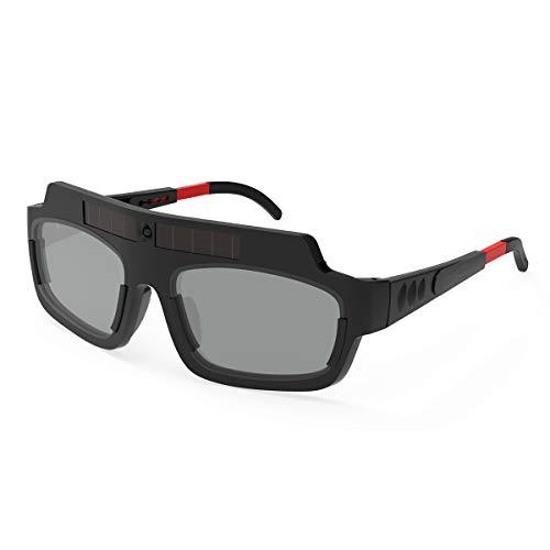 YESWELDER Solar Powered True Color Auto Darkening Welding Goggles, Welder Glasses for TIG MIG MMA Plasma LZ200F