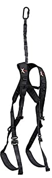 X-Stand Treestands The Defender Safety Harness The Defender Hunting Tree Stand Adjustable Safety Harness Black One Size