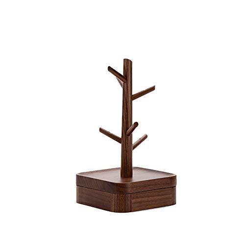 NAFE Holz Schmuckständer, Halskette Ring Schlüssel Uhr Aufbewahrungsbox Desktop Dekoration Schmuckschatulle