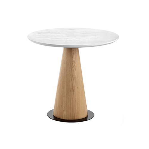 Xuping houten ronde salontafel, Scandinavische koffietafel, ronde tafel, softafel, kleine woonkamer/balkon-koffietafel