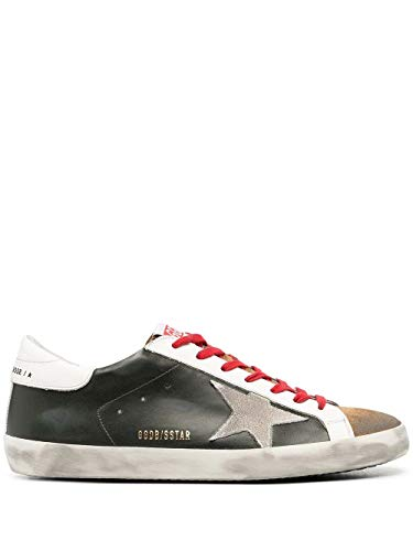 Golden Goose Luxury Fashion Uomo GMF00101F00034680309 Verde Pelle Sneakers | Ss21