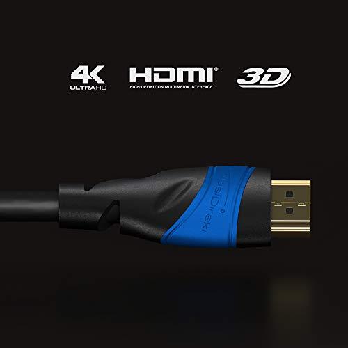 KabelDirekt - 4K HDMI Kabel - 1,5m - kompatibel mit (HDMI 2.0a/b 2.0, 1.4a, 4K Ultra HD, 3D, Full HD) & Amazon Basics – Hochgeschwindigkeitskabel, Ultra HD HDMI 2.0, unterstützt 3D-Formate,1,8 m