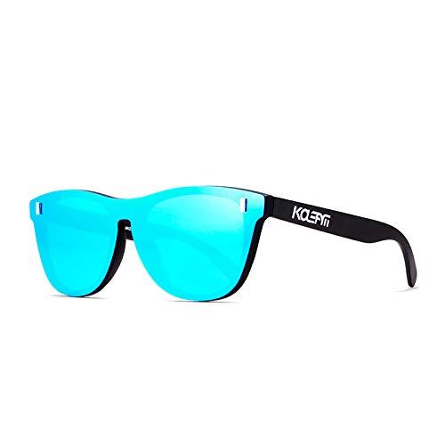 LKHF Gafas de Sol polarizadas para Mujeres y Hombres, Gafas de Sol de Moda con protección UV 100% Gafas de Montura Cuadrada para Conducir, Pescar, Deportes, Playa y Viajes
