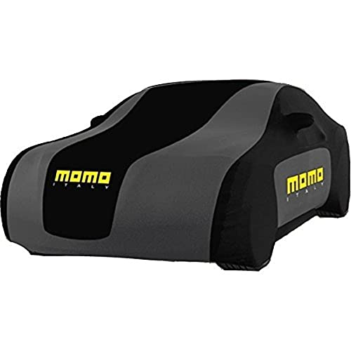 MOMO CC3LXL Cubre Coches Transpirable Interior-Exterior 3 Capas, Negro/Gris, XL