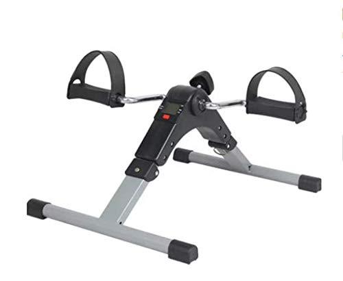 NIMO Pedales Estaticos,Mini Bicicleta Estática,Pedaleador Plegable LCD Pantalla,Máquina de Brazos y Piernas Rehabilitación para Hacer Ejercicio en Casa (NEGRO)