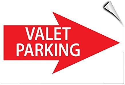 Parkschild mit Pfeil nach rechts Parken, selbstklebend, Vinyl-Aufkleber, 8 x 12 cm