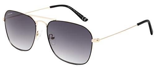 Polar sonnenbrille unisex Aviatorpolarisiert gold/schwarz (P88302/R)