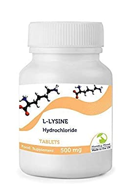 L-lysine Hydrochloride 1000mg Health Food Supplement Amino Acid 30 Tablets Pills in Bottles Quality Britain HEALTHY MOOD UK