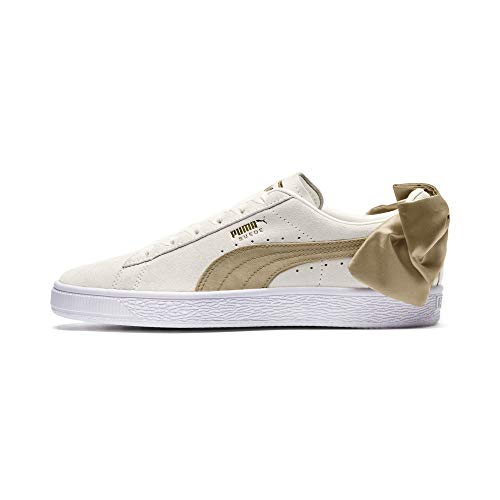 PUMA Suede Bow Varsity Damen Sneaker Marshmallow-Metallic Gold UK 7.5_Adults_FR 41
