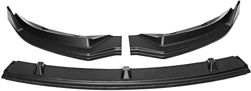 ERBV Alerón de Parachoques, Aspecto de Carbono/Negro, 3 Piezas, Kit de carrocería de Labio Delantero para Coche, difusor Divisor para Tesla Model 3 2016-2019, Negro Mate