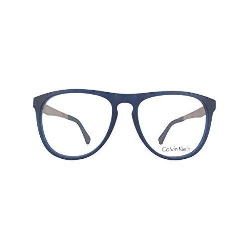Calvin Klein Brille (CK-5888 438) Acetate Kunststoff - Metall geräuchert blau - matt blau