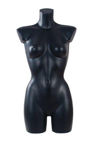 Schaufensterpuppe DPS Shopfitting Damen-Torso mit Beinansatz aus Kunststoff, schwarz