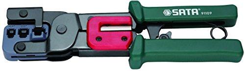 Alicate De Crimpar Conector Modular Sata Verde/ Vermelho 9'