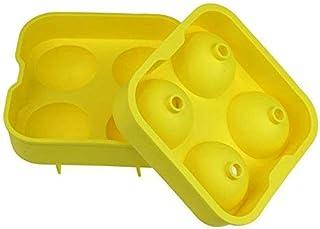 Bandeja Sunerly fácil de quitar, 8 moldes gigantes de silicona para hacer bolas de hielo