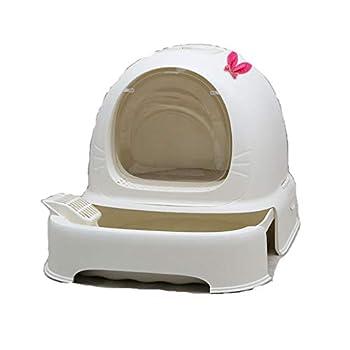 Rory Dissociables De Toilette pour Chat, Plus Grand Espace Litière Tiroir Type Plateau Boîte avec Pelle, Facile À Assembler 52 * 42 * 40Cm,F