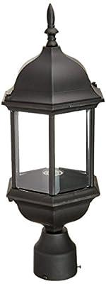 Designers Fountain 2976-BK Devonshire Outdoor Post Lanterns, 20 inch, Black