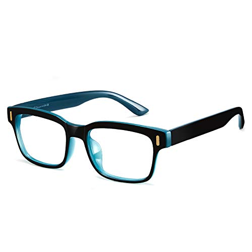 Óculos Cyxus Óculos de Bloqueio de Luz Azul Peso-leve Óculos de Jogo de Computador de Filtro Raio Azul (8084T54,Azul Preto)