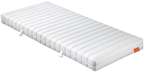 sleepling 7-Zonen Punktoflex Federkernmatratze Basic 60 TFK - Härtegrad 3, 140 x 200 x 16 cm, weiß