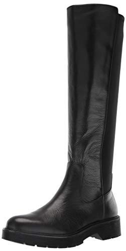 Calvin Klein Damen Themis Kniehoher Stiefel, Weiche Schwarze Trommel, 37 EU