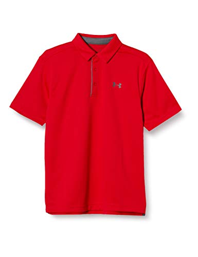 Under Armour Men's Tech Golf Polo , Red (600)/Graphite, XX-Large