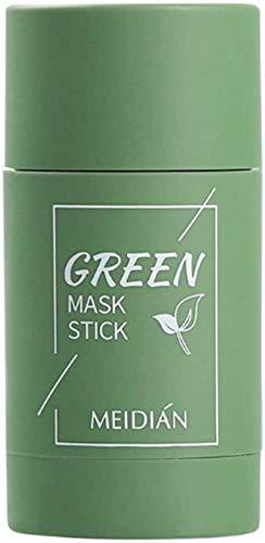Mascarilla de Arcilla purificadora de té Verde, mascarilla sólida de Control de Aceite, mascarilla hidratante de Limpieza Profunda, Mascarilla Facial Puntos Negros (1Pcs Green Tea)
