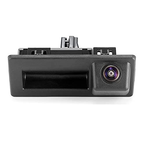BAWAQAF para Audi A4 para VW Tiguan para Skoda Speed Octavia HD AHD 1080P 170 Grados Ojo de pez Vista Trasera cámara con asa de Maletero inverso