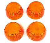 Turn Signal Lens Set - 33402-268-672 - Amber - Compatible with Honda