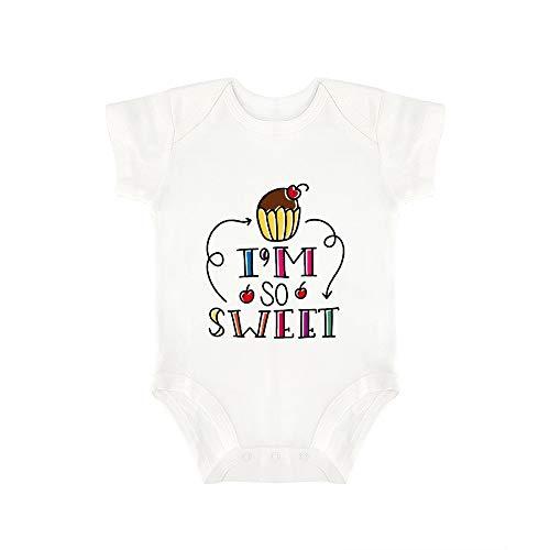 Promini Lindo Bebé Onesie Im So Dulce Bebé Mono Bebé De Una Pieza Mameluco El Mejor Regalo Para Bebé