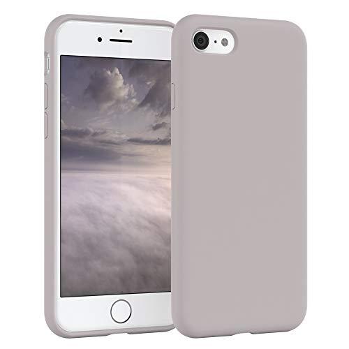 EAZY CASE Premium Silikon Handyhülle kompatibel mit Apple iPhone 8/7 / SE (2020), Slimcover mit Kameraschutz und Innenfutter, Silikonhülle, Schutzhülle, Bumper, Handy Case, Softcase, Rosa Braun