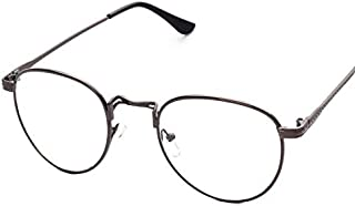 Preppy Style Retro Round Metal Frame Eyeglasses Ultralight Flat Eyewear for Unisex