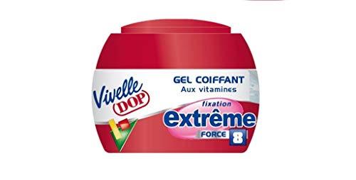 VIVELLE DOP - Gel Coiffant aux Vitamines Fixation Extrême Force 8 Pour Homme - 150 ml