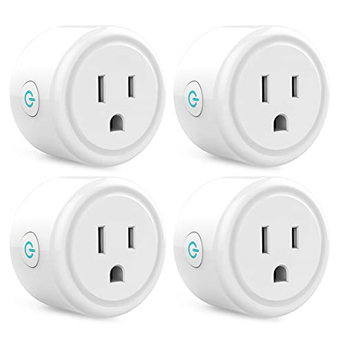 Mini Smart Plug Works with Alexa and Google Home, WiFi Outlet Socket Remote Control with Timer Function, Only Supports 2.4GHz Network, No Hub Required, ETL FCC Listed (Mini Smart Plug 4 Pack)