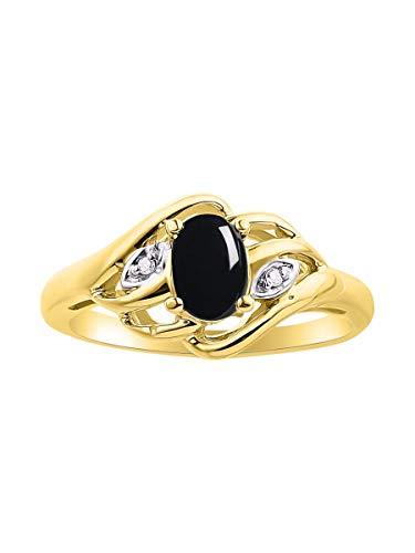 Juego de anillos de diamantes y piedras preciosas o semipreciosas en plata de ley, plata chapada en oro amarillo 925, oro amarillo de 14 quilates o oro blanco de 14 quilates.