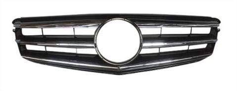 Kühlergrill für Frontstoßstange, schwarz, für C-Klasse S204, T-Modell, ohne Stern-Emblem