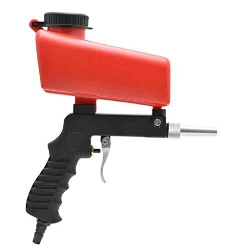 Tragbare Pistole Sandstrahlgebläse Schwerkraft Pneumatische Set Home DIY Mini Strahlgerät 90psi Sandstrahler Rostschutz Einstellbare Sandstrahlgerät (Schwarz)