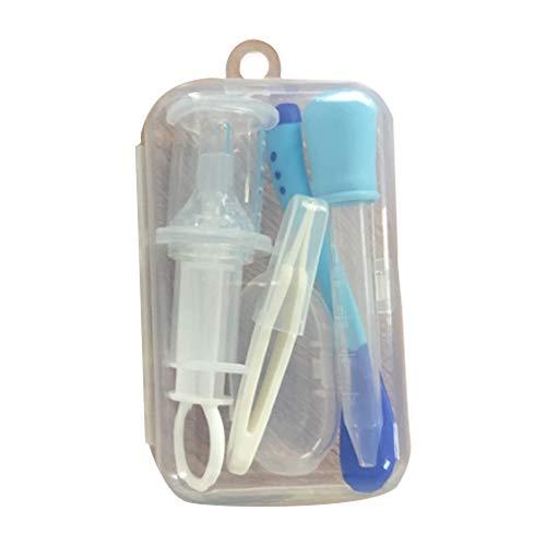 Infant Medicine Dispenser Kit mit Bonus Travel Case Baby Säuglingskleinkind BPA Free Medical Kit Medizinspender Sure-Dose Medizin Dropper Infant Baby Essentials Kit Medizin Set 5Pcs / Set blau