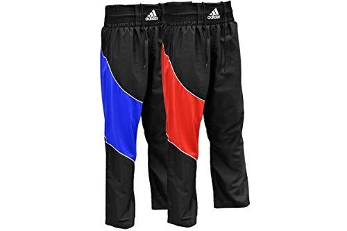 adidas Trousers Martial Arts Semi Contact Pants Kickboxing-Pantalones de Entrenamiento para Artes Marciales, Unisex, Rojo, 130