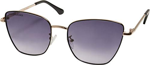 Urban Classics Sunglasses Paros Gafas, Negro/Dorado, Talla única Unisex Adulto