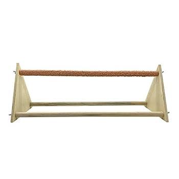 Unwstyu Perchoir en bois pour poule avec supports triangulaires