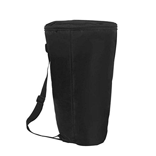 SolUptanisu Secchiello Porta Bacchette della Batteria Impermeabile Zaino a Spalla Tamburo Africano Borsa da Viaggio Portatile per Borsone da Viaggio Black