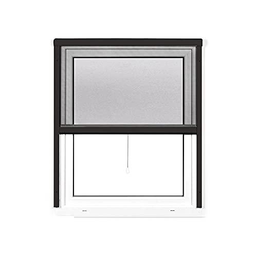 jarolift 4 in 1 Zanzara Insektenschutzrollo Fliegengitter für Fenster, Bausatz mit Aluminium-Rahmen, robustes Fiberglas-Gewebe, 160 x 180 cm (B x H), Anthrazit