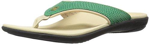 Spenco Women's Yumi Snake Sandal, Deep Green, 5 M US
