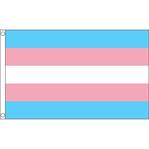 UKFlagShop 5ft x 3ft (150 x 90 cm) New Transgender Gay Pride 100prozent Polyester Material Flag Banner Perfekt For Pub Club Festival Busine