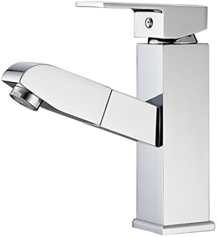 Wasserhahn Badzubehr, einfach zu bedienen und benutzerfreund Neue Küchenarmatur Allzweck-Allzweck-Becken-Ausziehhahn Warm Kalt-Einweg-Waschtischarmatur XIAHE
