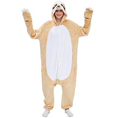 TIFIY 2021 Regalo Navidad Pijama Animal Entero Unisex para Adultos con Capucha Cosplay Pyjamas Ropa de Dormir Traje de Disfraz para Festival de Carnaval Halloween Navidad