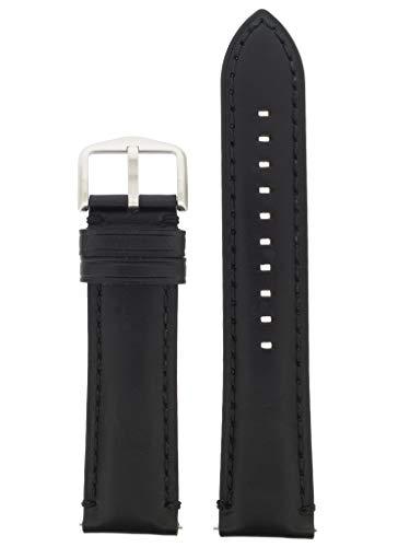 Correa de repuesto original LB-FS5396 para correa de reloj Fossil FS5396 de piel, 22 mm, color negro