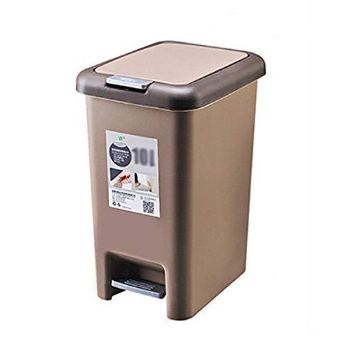 HYRL Plastikmülltonne Mülleimer, Müllcontainer - für Badezimmer, Pulverkammer, Schlafzimmer, Küche, Bastelraum, Büro